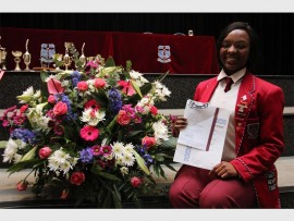 Holy Rosary High School's Tebogo Mashiloane was awarded her full service colours. She obtained her Apostolate Merit and four other service merits for choir, marimba, gospel group, hospitality and public relations, thereby meeting the requirements to be awarded full service colours.