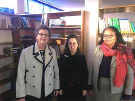 Dowerglen High School recently re-opened its library. The library suffered severe water damage recently and was repaired by the Department of Education. The Dowerglen High School library will be used by pupils for homework, research or for reading. Seen here are former principal Mrs D Kruger, principal Ms L Dowds and Ms Mawela.