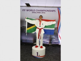 Mrs Abigail Daniels was awarded a gold medal at the ITF World Championships.