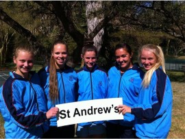 The St Andrew's School for Girls tennis team won the Sun City Tennis Tournament 2016. This is the third consecutive year that St Andrew's has won the tournament.