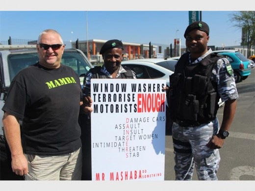 Kevin Norman, John Maluleke and Adam Nkoana from Mamba Special Operations (OPS) were present at the protest.