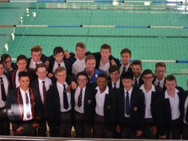The Bennies swimming team.