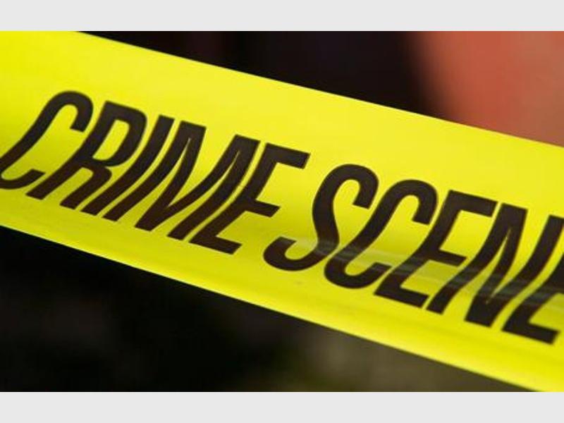 Crime scene tape stock image.