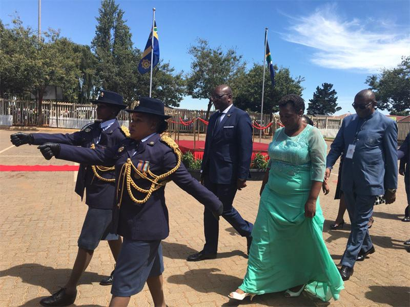 Members of the Gauteng Provincial Legislature arrive for Premier David Makura's State of the Province Address in Sedibeng.