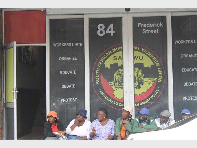 Samwu head offices in the Joburg CBD.