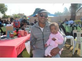 ADORABLE: Tebogo Modise with daughter, Tshego Kutu.