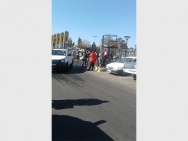 NO-MORE: These jobseekers were cleared off by police from outside Builders Warehouse gate