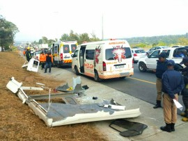 25 people injured in rollover accident