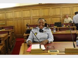 Police Provincial Commissioner, Lieutenant General Deliwe de Lange presents the crime stats for Gauteng.