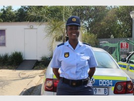 TO SERVE: Douglasdale Police Station's new communications officer, Captain Mpho Kgasoane.