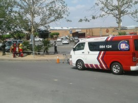 Scenes from the bomb scare at Fourways Mall.