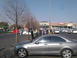 Scenes from the bomb scare that took place at the Lonehill Shopping Centre earlier this year in August.