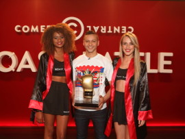 Comedian Donovan Goliath wins the sixth episode of the Comedy Central Roast Battle held at Parkers Comedy and Jive in Montecasino.