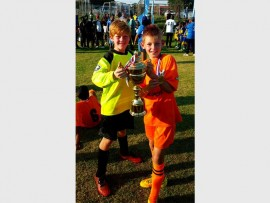 Dainfern Lions Football Club players, Colby Sinclair and Keanin Louw were part of the eight U10 teams from around the country who participated in the South African Football Association Tournament.