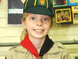 Jessica Chamberlain a First Bryanston Cub Pack club member.