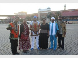 INTERNATIONALS IN SA: The African Hebrew Israelites take to Newtown to spread the good word and enjoy the great music at the Africa Day Concert.