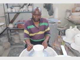 CERAMIC KING: Leonard Nyathi runs Nyathi Art Creations at the corner of End and Miekle streets.