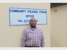 Godfrey Mothibe, Ward 118 Cleveland CPF chairperson.