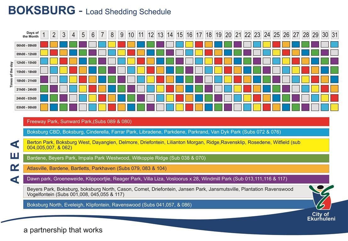Eskom Load Shedding Schedule: Ekurhuleni On Standby For Loadshedding