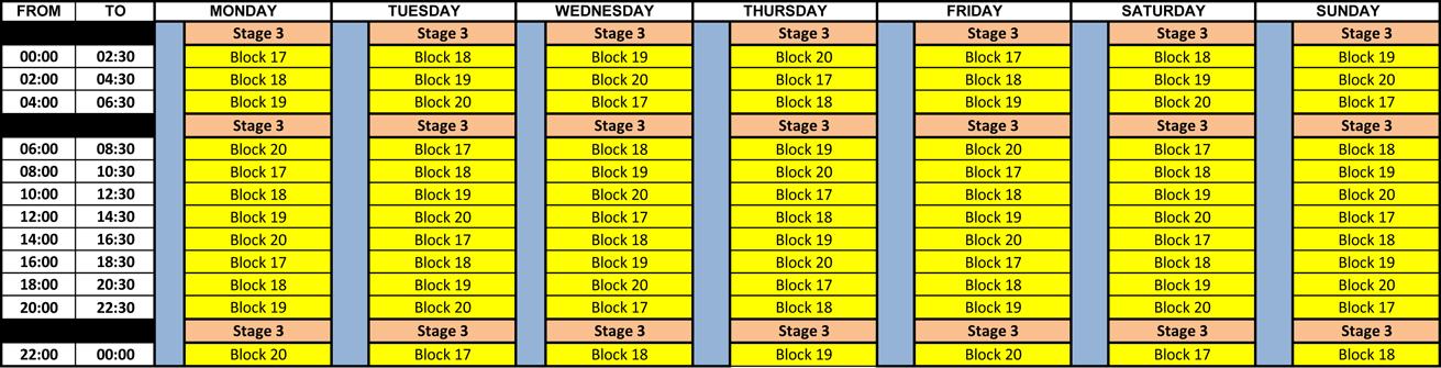 Understanding Eskom's stage 3 load shedding schedule | Boksburg