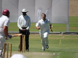 George Viviers on the attack.