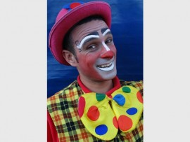 Benji the Spanish clown gets up to mischief throughout the show.
