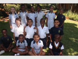 Parkrand Primary School under seven and nine learners who won medals at the interschool's sporting games.They are back (from left) Terri Brown, Mpho Ndobe, Ntsako Ndobe Nokukhanya Nguqu, Robyn Tsamas-Morris and Keratilwe Masha. Middle: Connor Steyn, Claudic Woodmgton, Ntwadi Mahlangu and Tristen Peters. Front: Lethabo Molotsha, Amogelang Gololo, Leshandre Pietersen and Emmanuel Okoye.