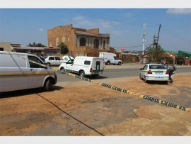 This is the cigarette delivery panel van, which was being targeted by robbers while driving through Ramaphosa.