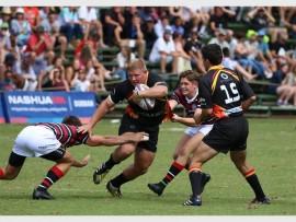 EG Jansen prop Andre van der Merwe powers past Maritzburg College defenders.
