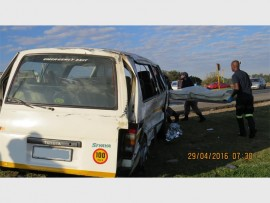 The scene of accident at the intersection of Rondebult Road and the R554. Photos: DEMS' William Ntladi.