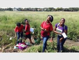 Seen here visiting the Bokkie Park are Boksburg High School learners (from left) Paballo Malindi, Mbali Masombuka, Kefuoe Mokhele and Ayanda Funda.