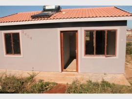 Seen here is one of the RDP house where windows and the door were broken on Monday.
