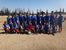 Champions-elect: Boksburg Football Club's u-14s.