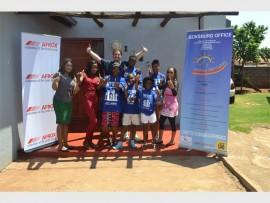 Back: John Heer (Afrox), with Sihle Duma, Nonkululeko Mlangeni and Feerowza Mulligan. Front: Vanessa Naidoo-Pillay, Lilliant Mnisi, Elizabeth Marule, Siyabulela Masina and Njabulo Mashaba.