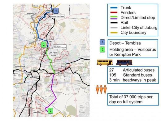 Phase Of BRT Harambee System Implemented Boksburg Advertiser - Vosloorus map