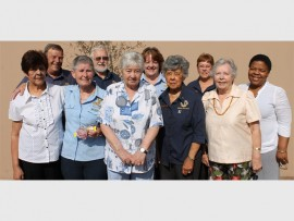 Members of the Benoni van Rhyn Lions Club and Benoryn Lioness Club are pictured with some of the residents of the Fairleads Retirement Village at the spring day breakfast. Some of the attendees are, front (from left): Bertha van der Ross (Fairleads Retirement Village), Margaret Hanvey, Thora Start-Taylor (Fairleads Retirement Village), Merle Botes and Marge Bell (Fairleads Retirement Village). Back: Peter van der Heiden, Atholl Selkirk, Leslie Young, Janis van der Heiden and Carol Mpepele (prospective member).