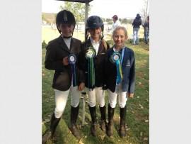 Sunny Park Stables' riders Sasha Reyneke (left), Hailey Strydom and Hannah van Niekerk.