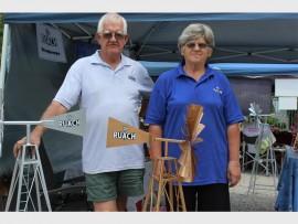Jan and Carlien Nieuwoudt sold handmade windmills.