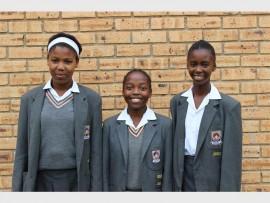 These u-13 girls represented Arbor Primary School at netball trials. They are, (from left): Amogelang Moepye, Zoe Ngwenya and Gomolemo Molahloe. Ngwenya and Molahloe excelled at the trials and progressed to the Ekurhuleni trials.