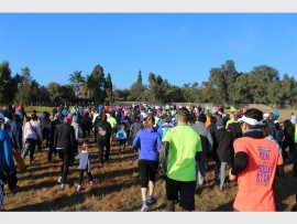 Runners and walkers take on Ebotse Parkrun's fourth birthday event, on Saturday.