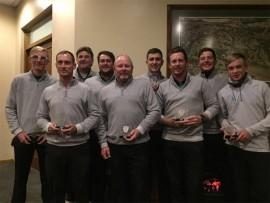 Some members of the Ebotse Links A-Division scratch team, who won their league, are Jordan Burnand (left), Shaun Barret, Mark O'Brien, Johann Germishuys, Kevin Monk, AJ Marques, Dean Kupferman, JP Schmidt and Jayden Schaper.