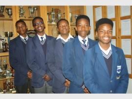Noorderlig Gekombineerde Skool's u-16 chess team attained second place at the Ekurhuleni District Chess finals recently. The Grade Nine pupils are, from left: Nkosinathi Mthimkhulu, Xola Tshitshiba, Olwethu Nhlapho, Neo Makofane and Reginald Nkosi. Absent: Sosulwe Ngala.
