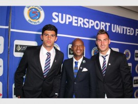 Spotted at the event are local stars Anthony Gordinho (left), Jabu Mahlangu (SuperSport United brand ambassador and former player) and Bradley Grobler.