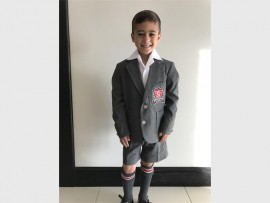 Rynfield Primary School learner Alessandro dos Santos (7) was excited about his first day of school.
