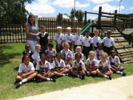 Seen here are a group of Grade One learners from Ashton Junior College who began their schooling career on January 11. They are, back (from left): Ailsa Hall, Cameron Morrison (6), Christopher Greyvensteyn (7), Logan Klement (7), Matthew Miller (6), Uday Ramphal-Bhoola (6), Jason Durber (6) and Njabulo Zwane (6). Middle: Inhle Nkomo (6), Ethan Schorn (6), Zeenat Khan (7), Angelique Grobler (6), Caitlin Berriman (7), Thando Thusi (6) and Imkhitha Mvinjelwa (6). Front: Aaliyay Sibda (7), Nkuna (7), Bhavini Chetty (7), Neha Jeebodh (7), Keira Dardis (7) and Hayley Henning (7).