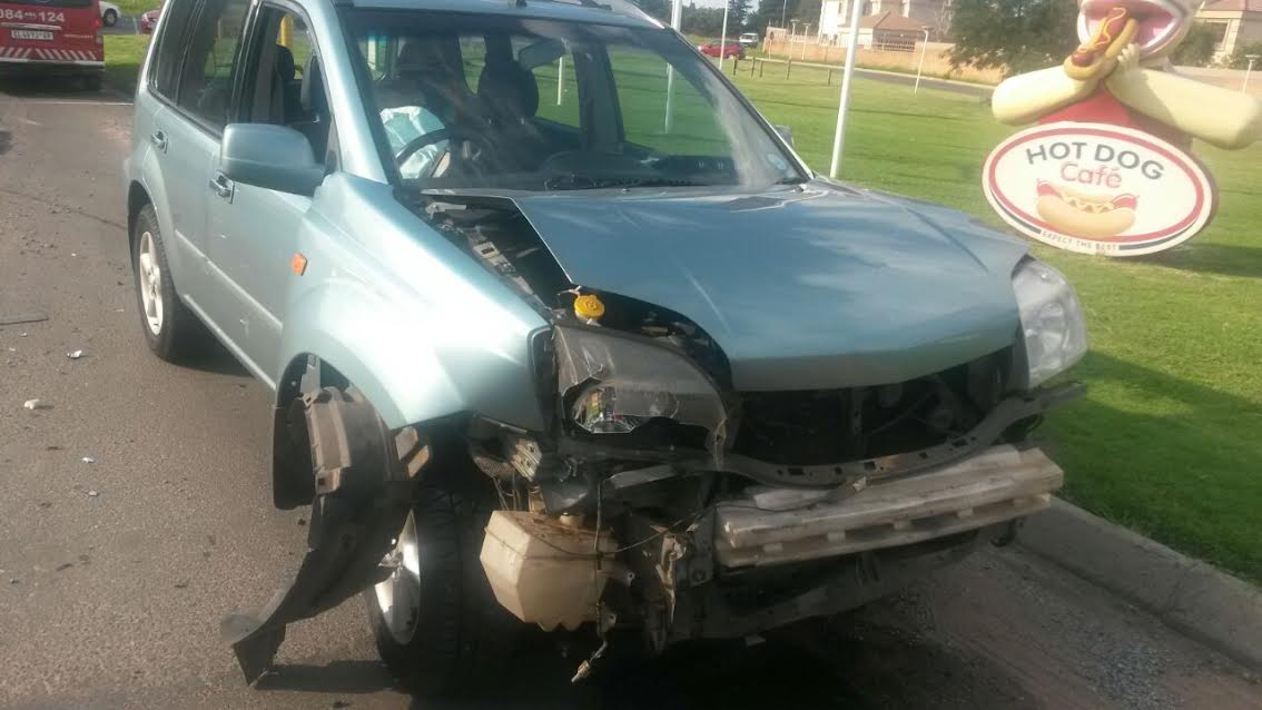 One of the vehicles that was involved in a crash on January 11.