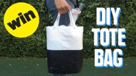 From plastic to tote bag