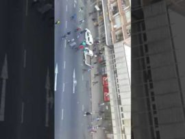 Disgruntled community members march in the CBD
