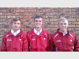 Hulle is van (van links): Hugo Claassen (Hoërskool Dr EG Jansen), Lionel Ueckermann (Hoërskool Kempton Park) en Ruben Roodt (Hoërskool Dr EG Jansen).