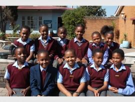 Grade Four, back (from left): Kenechukwu Ani, Ntsako Hlongwane, Nqobile Fokazi, Nonsindiso Mhlanga, Aaobakwe Mothibe and Taytum Brink. Front: Enyichi Iroka, Boikgantso Namo, Jordan Botha, Rehauhetswe Mohale and Robynise Maroos.